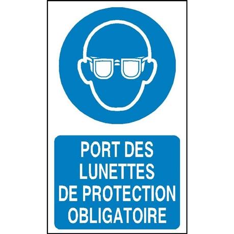 Port des lunettes de protection obligatoire - STF 2301S - Direct  Signalétique 38e0a8fce2d4
