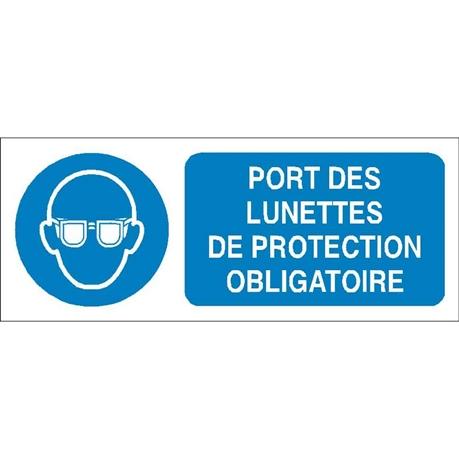 Port des lunettes de protection obligatoire - STF 2312S - Direct ... 981a5d0729eb