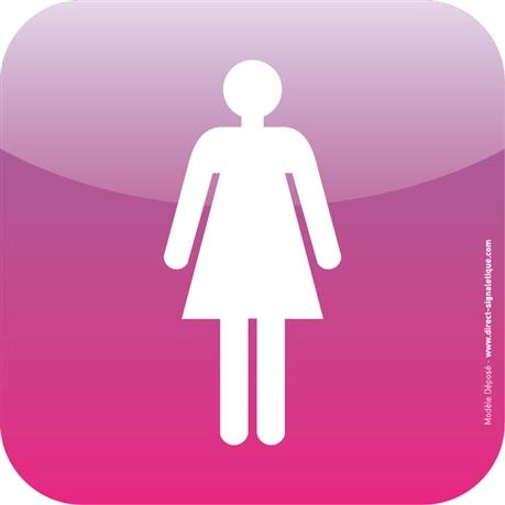 Plaque De Porte Icone Toilettes Femmes