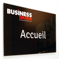 Plaque plexiglas d'entreprise