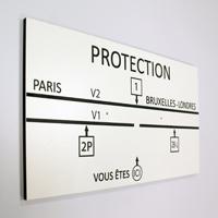 Plaque SNCF en trespa gravé