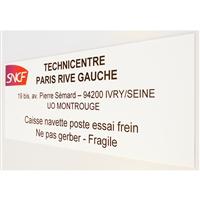 Panneau accueil SNCF en dibond imprimé