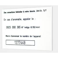 Plaque PVC gravée - fond blanc texte noir