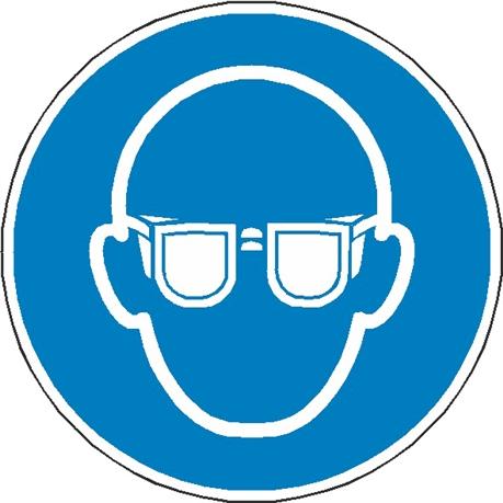 0a894ef35b8449 Signalisation lunettes protection obligatoire ISO 7010 - M004