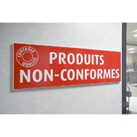 Plaque sécurité qualité