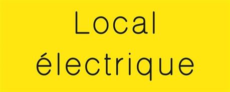 Signal tique grav e local lectrique gamme couleur for Local electrique