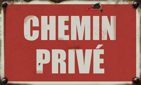 Panneau chemin priv vintage direct signal tique for Affichage obligatoire garage