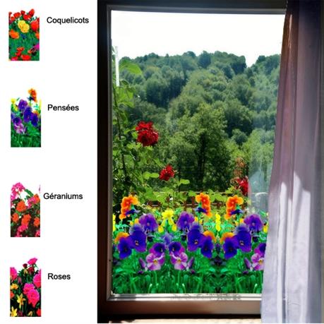 Adhésif Décoratif Pour Vitre Style Fleurs Direct Signalétique