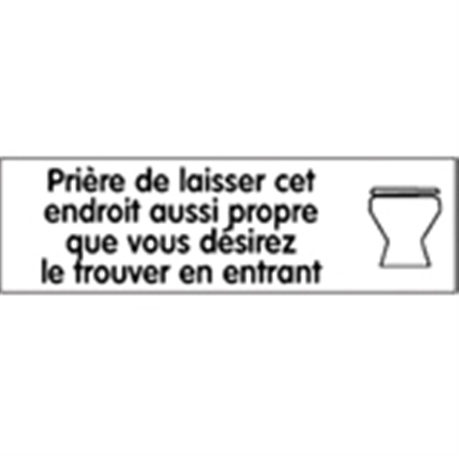 Affiche Laisser Les Wc Propres