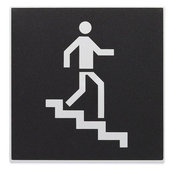 Plaque Symbole Escalier De Descente Direct Signal Tique