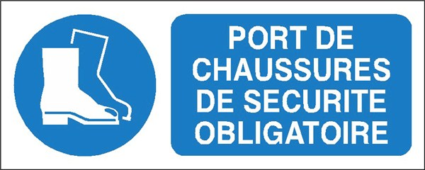 Port de chaussures de sécurité obligatoire , STF 2316S