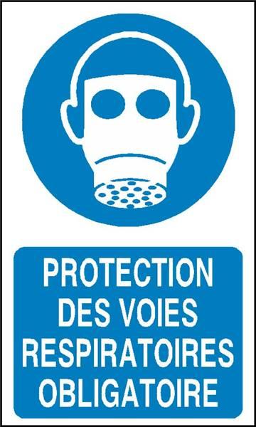 Protection des voies respiratoires obligatoire stf 2315s - Pictogramme port du masque obligatoire ...