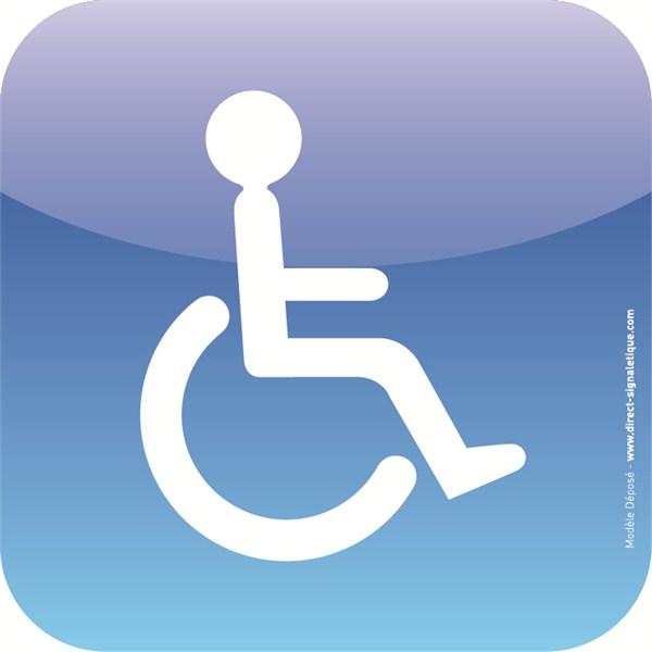 plaque de porte icone toilettes handicap s direct. Black Bedroom Furniture Sets. Home Design Ideas