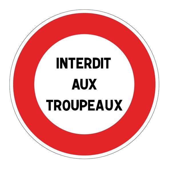 Panneau d interdiction personnalisable b19 direct signal tique - Panneau signaletique personnalise ...