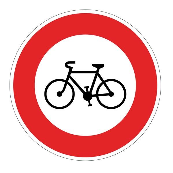 Panneau acc s interdit aux cycles b9b direct signal tique - Panneau signaletique personnalise ...