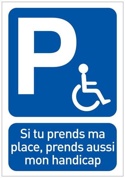papier autocollant dissuasif places handicap es coller sur les vitres de voiture direct. Black Bedroom Furniture Sets. Home Design Ideas