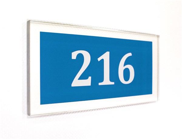 Num ro de chambre gamme h tel adh sive direct signal tique for Hotel numero