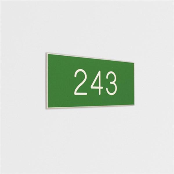 Plaque grav e avec num ros de porte pour int rieur gamme for Numero de chambre