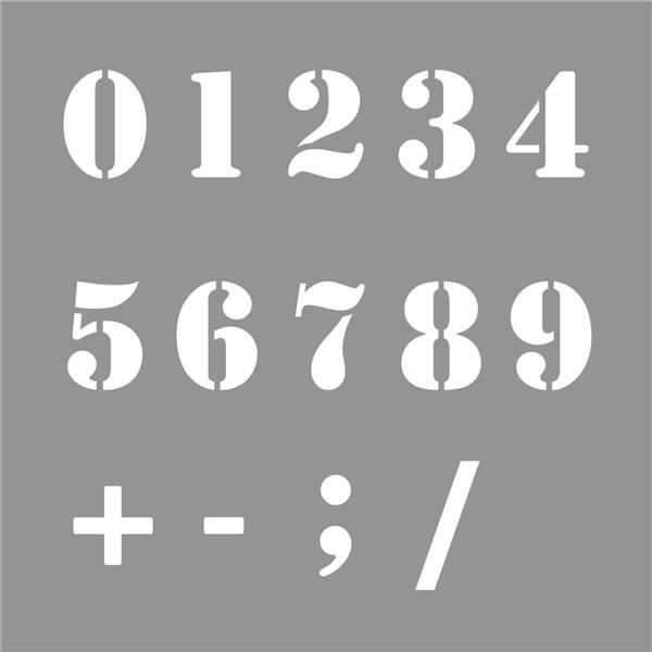 Pochoir chiffres de 0 9 direct signal tique - Pochoir lettre a imprimer gratuit ...