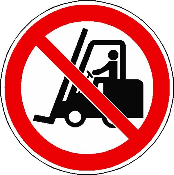 panneau interdit aux chariots l vateurs iso 7010 p006 direct signal tique. Black Bedroom Furniture Sets. Home Design Ideas