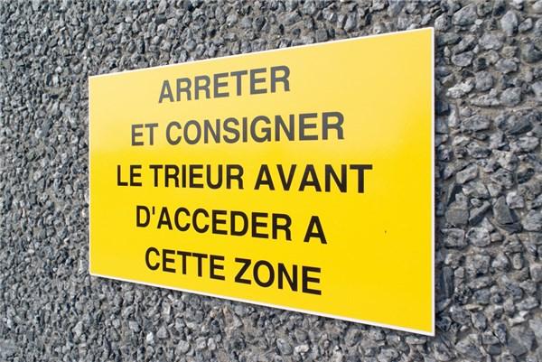 Panneau de s curit personnalis en aluminium direct signal tique - Panneau signaletique personnalise ...
