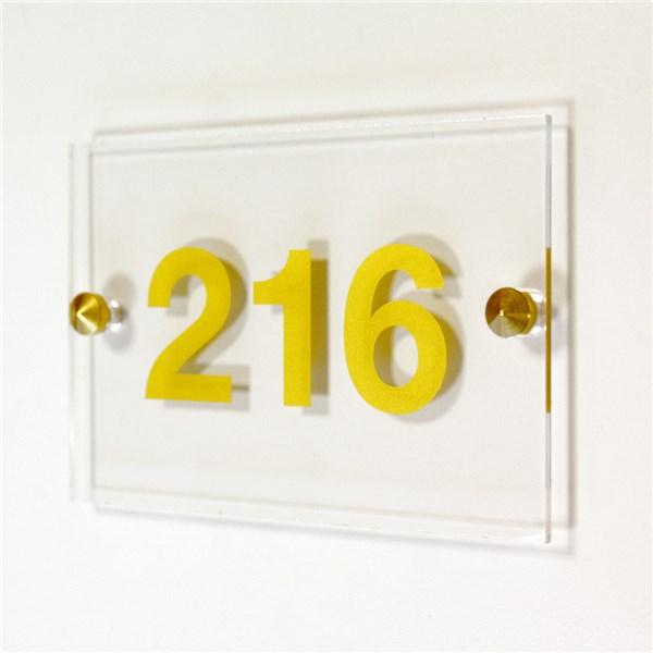 Num ro de chambre dor avec cache vis direct signal tique for Numero de chambre