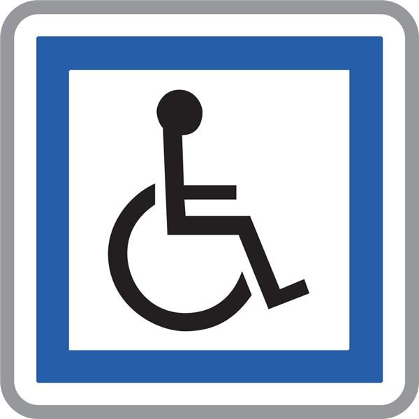 panneau installations accessibles aux personnes handicap es ce14 direct signal tique. Black Bedroom Furniture Sets. Home Design Ideas