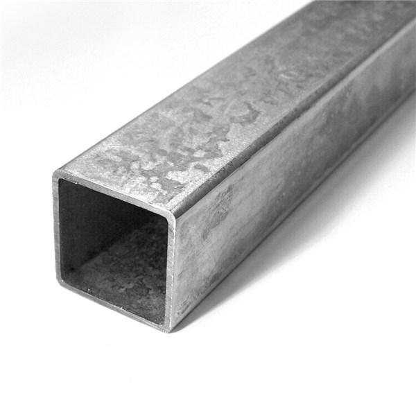 Poteau carr 40 x 40 mm en acier galvanis direct - Poteau bois carre ...