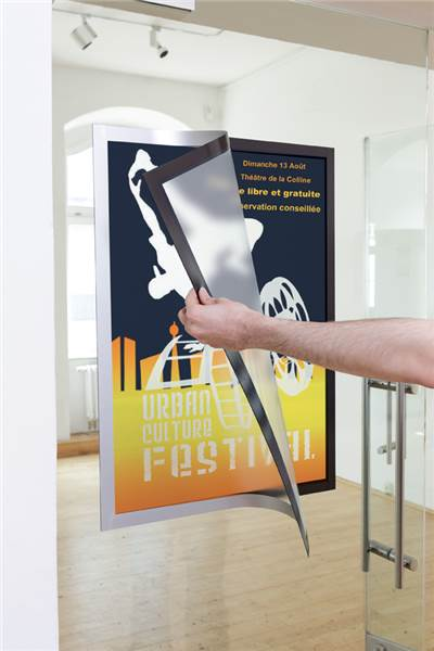 Porte affiches adh sif duraframe poster direct signal tique for Miroir adhesif grand format
