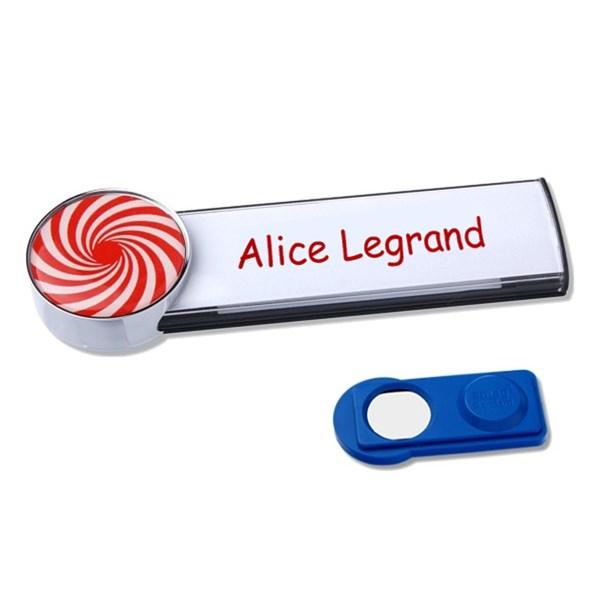 Exceptionnel Badge Aimanté En Aluminium avec Logo Rond Personnalisé - Direct  RT29