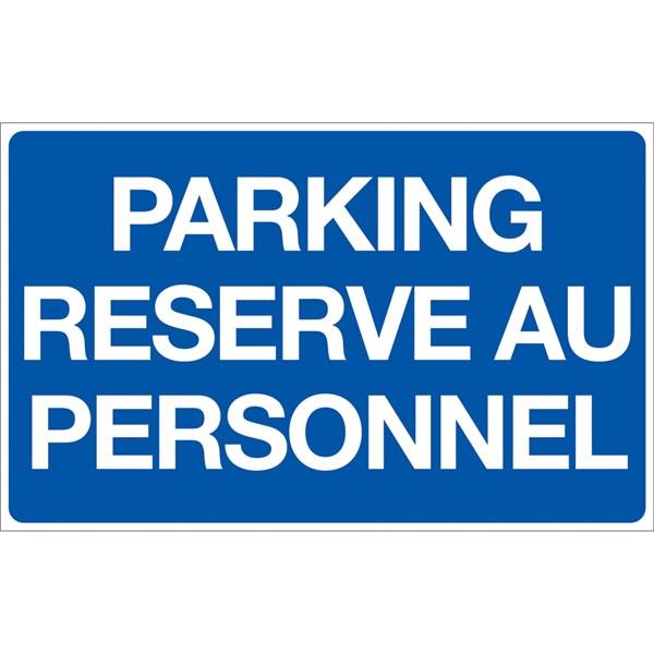 panneau parking r serv au personnel p8 direct signal tique. Black Bedroom Furniture Sets. Home Design Ideas