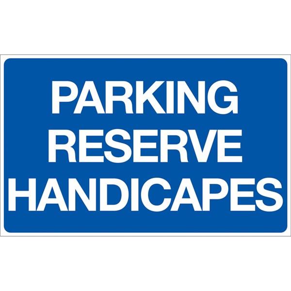 panneau parking r serv handicap p23 direct signal tique. Black Bedroom Furniture Sets. Home Design Ideas