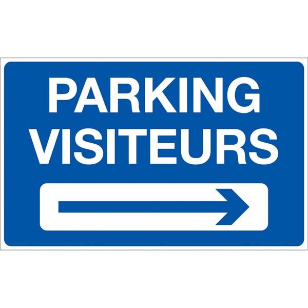panneau parking visiteurs droite p25 direct signal tique. Black Bedroom Furniture Sets. Home Design Ideas