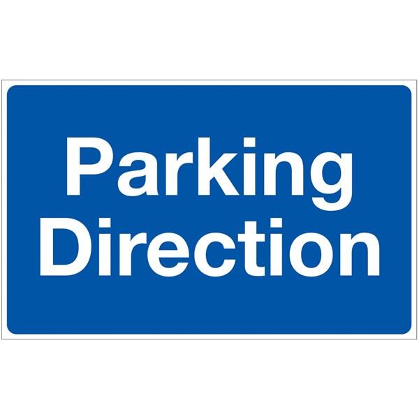 panneau parking direction fond bleu h 250 x l 400 mm direct signal tique. Black Bedroom Furniture Sets. Home Design Ideas