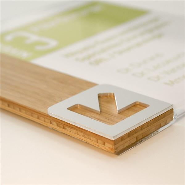 plaque d tages en bois et alu personnalisable a4 vertical. Black Bedroom Furniture Sets. Home Design Ideas