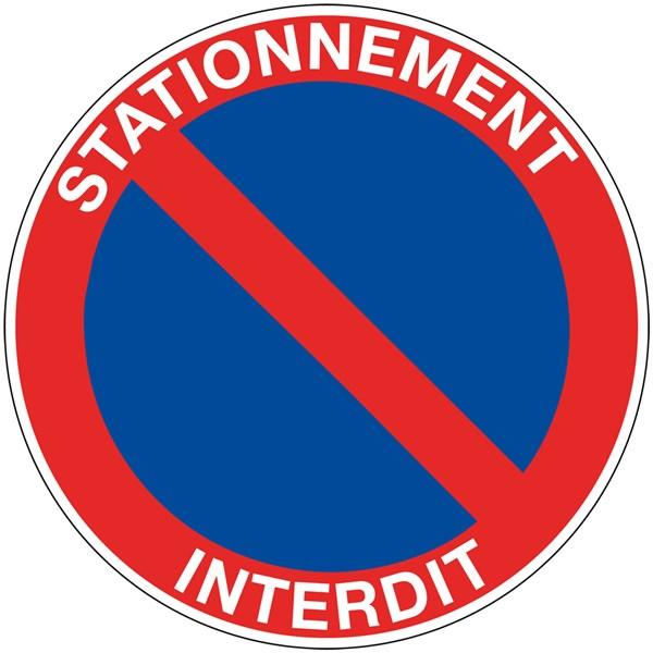 Pictogramme interdiction de stationner - Panneau interdiction stationner ...