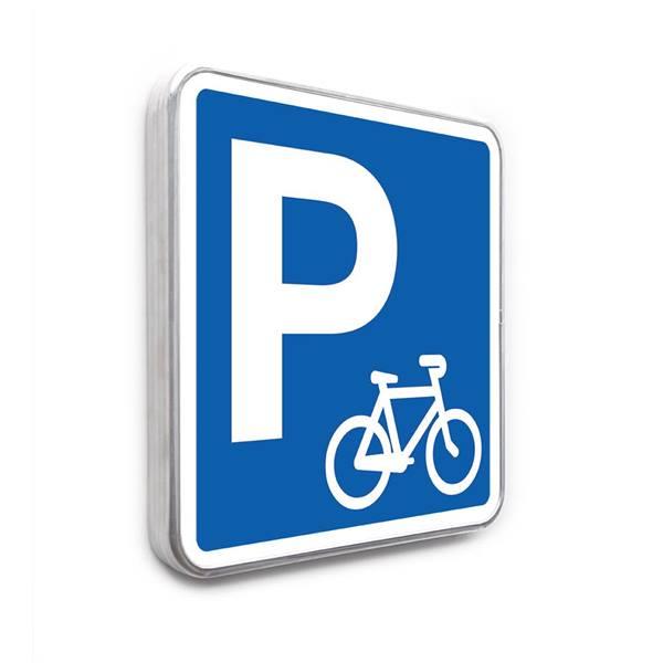 panneau parking r serv aux v los direct signal tique. Black Bedroom Furniture Sets. Home Design Ideas