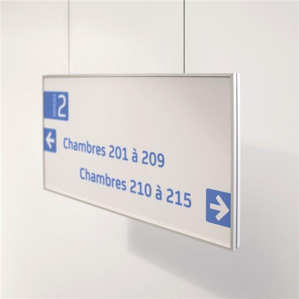 panneau suspendu double face slide direct signal tique. Black Bedroom Furniture Sets. Home Design Ideas