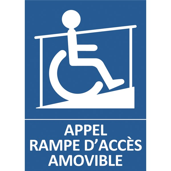 Panneau appel rampe d acc s direct signal tique for Rampe d acces handicape