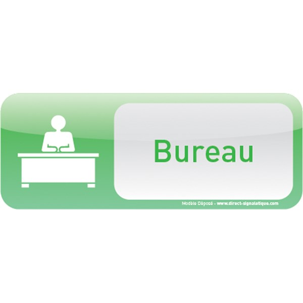 Plaque de porte bureau text icone direct signal tique - Plaque de bureau personnalise ...