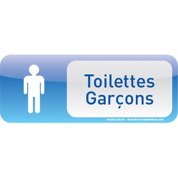 plaque de porte toilettes gar ons text icone direct signal tique. Black Bedroom Furniture Sets. Home Design Ideas