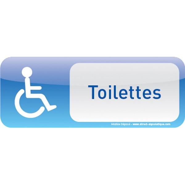 plaque de porte toilettes handicap text icone direct signal tique. Black Bedroom Furniture Sets. Home Design Ideas