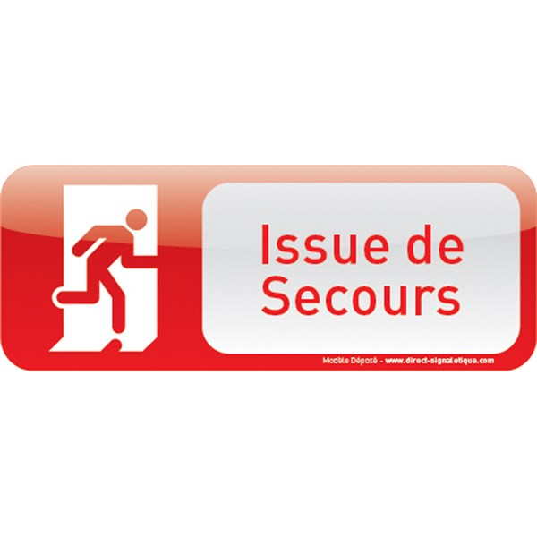 Plaque De Porte Issue De Secours Text Icone Direct Signal Tique