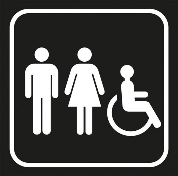 Picto gravé Toilettes hommefemme handicapés  Gamme