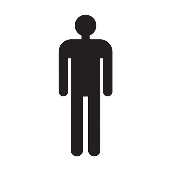 Adh sif de porte de toilettes hommes direct signal tique for Adhesif de porte