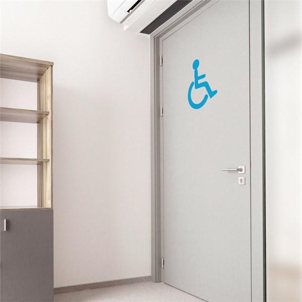 Drap Housse Pour Lit Electrique Pas Cher : Adhésif de porte de Toilettes PMR  Direct Signalétiq