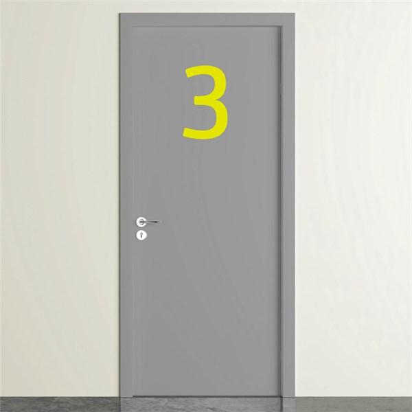 Chiffres en vinyle adh sif de porte direct signal tique for Adhesif de porte
