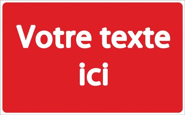 panneau de copropri t personnalis fond rouge texte blanc direct signal tique. Black Bedroom Furniture Sets. Home Design Ideas