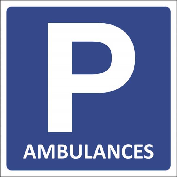 kit de panneau de parking pour ambulances direct signal tique. Black Bedroom Furniture Sets. Home Design Ideas