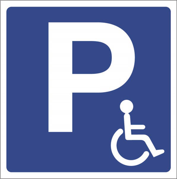 kit de panneau de parking r serv aux handicap s direct signal tique. Black Bedroom Furniture Sets. Home Design Ideas
